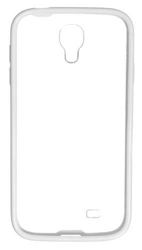 Pro-Tec Hard Shell Hülle Clip-On Case Cover für Samsung Galaxy S4 Transparent mit Farbiger Umrandung - Weiß Weiß