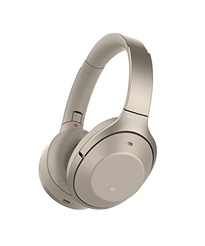 Sony WH-1000XM2 Bluetooth High-Resolution Kopfhörer (Noise Cancelling, kabellos, NFC, Headphones Connect App, bis zu 30 Stunden Akku, Amazon Alexa) gold thumbnail