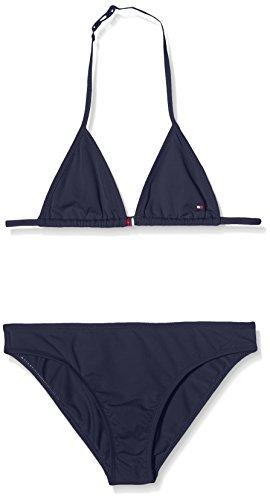 Tommy Hilfiger Mädchen Zweiteiler Ame Thkg Solid Bikini, Blau (Navy Blazer 19-3923 431), 140 (Herstellergröße: 10)