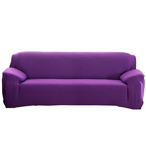Cafopgrill copridivano impermeabile antipioggia elastico antiruggine copertura divano copridivano/due/tre/quattro posti viola(4 seater :235-300cm)