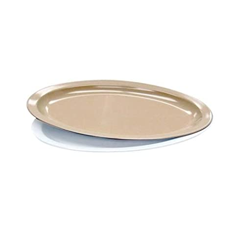 Melamine-Platter 11 7/8Tan(24)Melamine by Admiral craft
