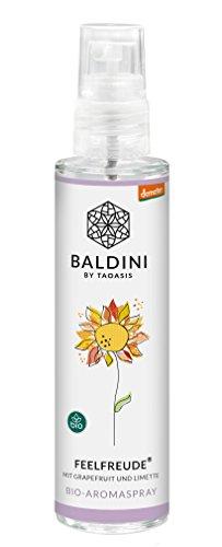 Baldini - Feelfreude BIO-Raumspray aus 100{825a79610168456cb69917abce3276386dd973c9f1d3c0b70e8aa7295c0a6ffb} naturreinen Rohstoffen, demeter, 50 ml