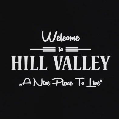 TEXLAB - BTTF: Welcome to Hill Valley - Langarm T-Shirt Marine