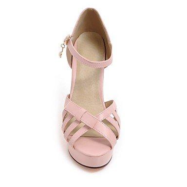 LvYuan Da donna Sandali Comoda Cinturino alla caviglia Suole leggere Pelle Estate Formale Serata e festaComoda Cinturino alla caviglia Suole blushing pink