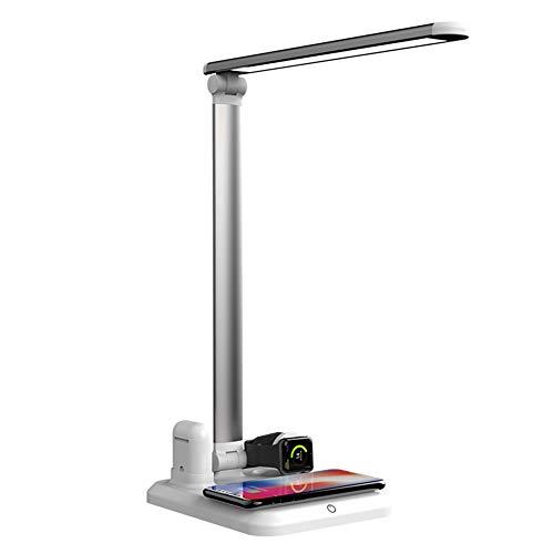 Gyratedream 4 in 1 Schreibtischlampe Wireless Charger Stand für iPhone für Airpods für Apple Watch