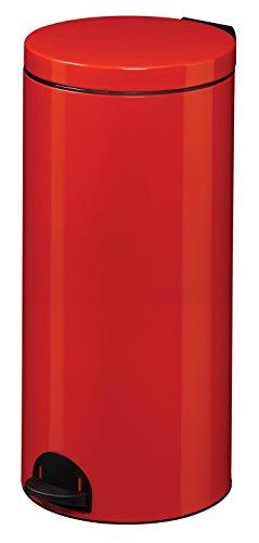 Rossignol Elora Poubelle Rouge 30L, INOX, 29x29x67 cm