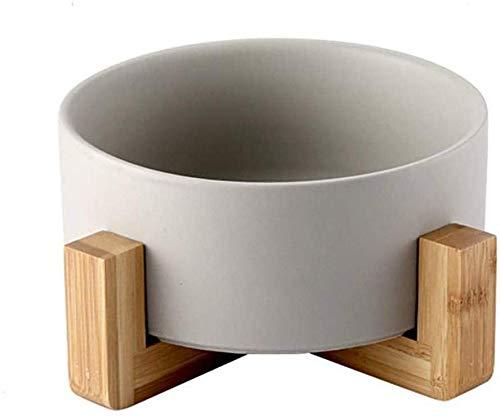 XXB Hundenapf Pet Bowls Haustier Katze Schüssel Kleiner Hund Besteck Katze Reis Schüssel Keramik Katze Schüssel Massivholzrahmen stark leicht zu reinigen Heimtierbedarf, Fressnapf Hund