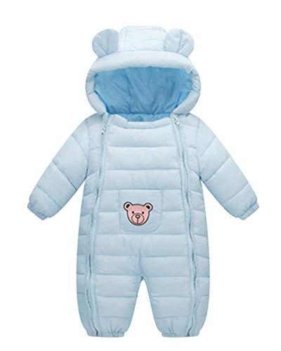 Mono De Nieve Bebés Mameluco De Invierno Oso Lindo Impresión De La Estrella Lindo Pijama Peleles con Capucha Zarco 60