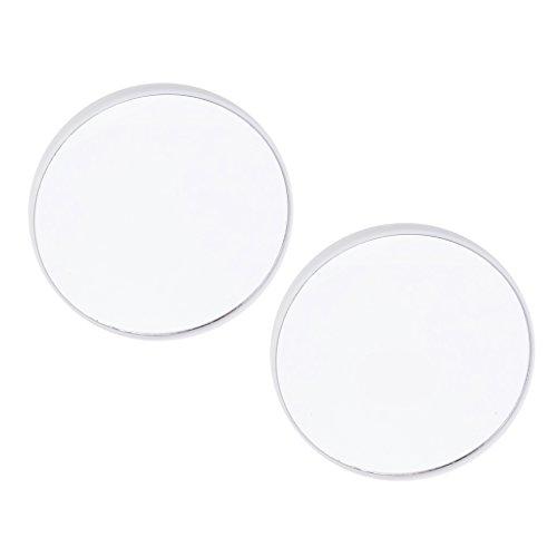 non-brand MagiDeal 2x Runde Kosmetikspiegel Vergrößerungsspiegel Taschenspiegel Rasierspiegel mit...