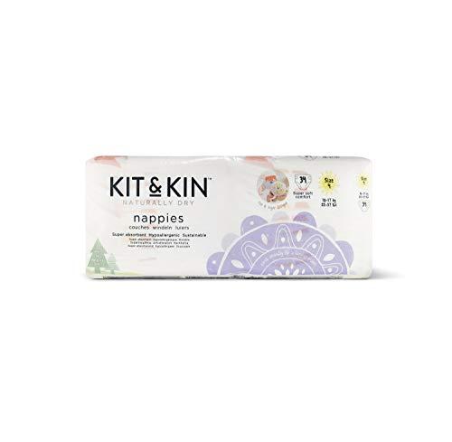 Kit & Kin Öko Windeln Größe 4, hypoallergen und nachhaltig (34 x 4 Packungen, 136 Windeln)