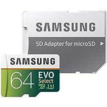 Samsung EVO Select microSDXC 64 GB Speicherkarte bis zu 100 MB/s, UHS-I U3 (inkl. SD Adapter)
