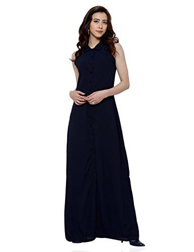 Tokyo Talkies Women's A-Line Dress (TTJ6001579_Navy Blue_Large)