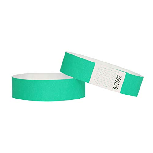 Confezione di 100braccialetti in carta Tyvek, 19mm, per eventi, festival,indistruttibili e personalizzabili,12colori disponibili 19mm acqua