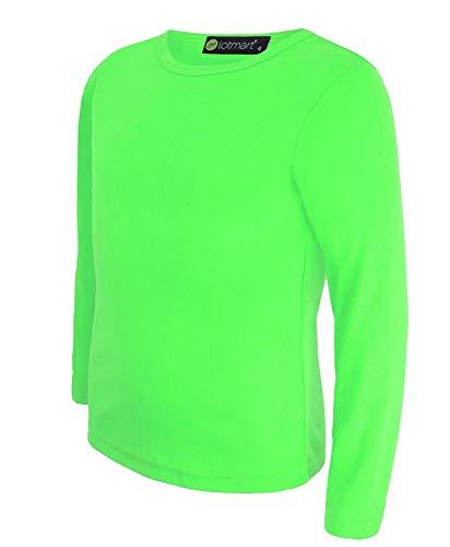 LotMart - Camiseta de Manga Larga - para niña Negro Verde 13-14 Años