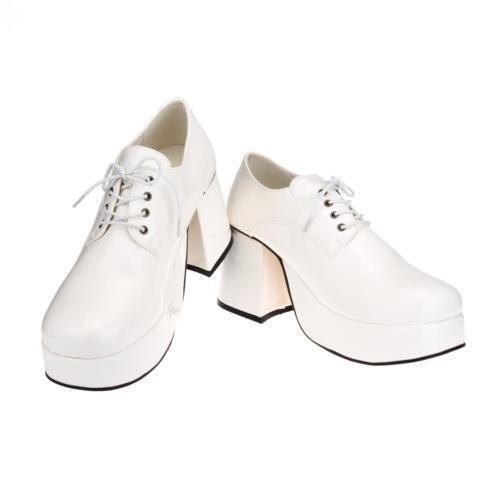 sowest Kostüm Herren 70er Jahre 80er Jahre Party Platform Weiß Silber Gold Schuhe
