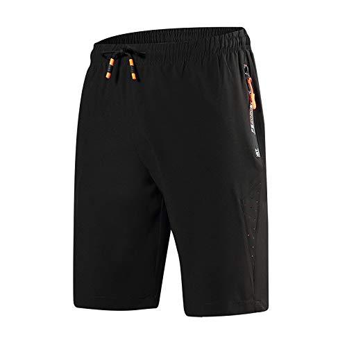 CHLCH Herren Sport Shorts Jogginghose KordelzugEinfarbig dünn orange XL