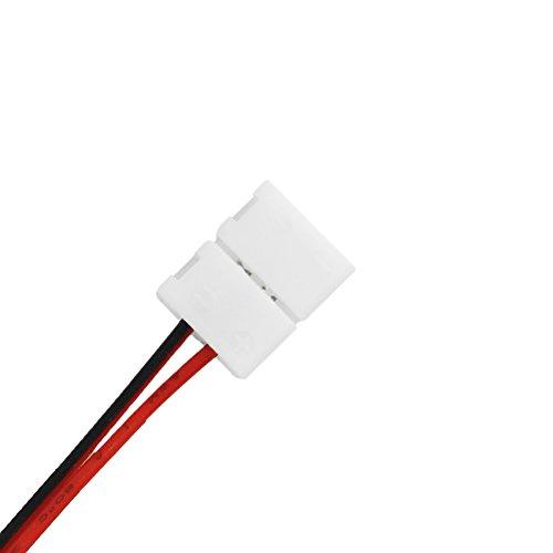 favo lcano 10x 2Pin Conector Cable de conexión óptica 14cm Conector Rápido 8mm Para 3528tira LED