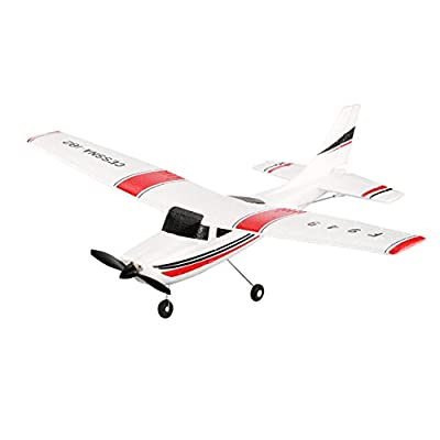 Dailyinshop WLtoys F949 3CH 2.4GHz RC Airplane Fixed Wing RTF CESSNA-182 Plane Drone Toy(Color:white)