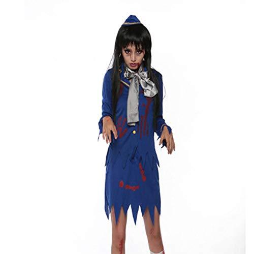 Stewardess Halloween Kostüm - DUQA Stewardess Kost¨¹m Halloween Party Party Zombie Dry Corpse Stewardess Zombie Kost¨¹m Halloween Kost¨¹m