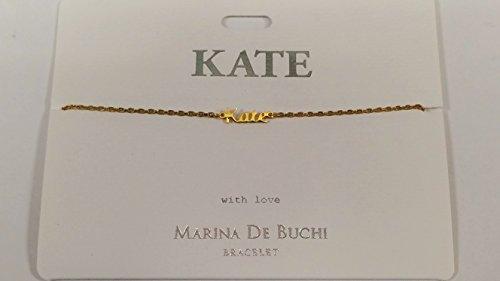 Kate Nom de Marina De Buchi Bracelet plaqué or par Sterling Effectz