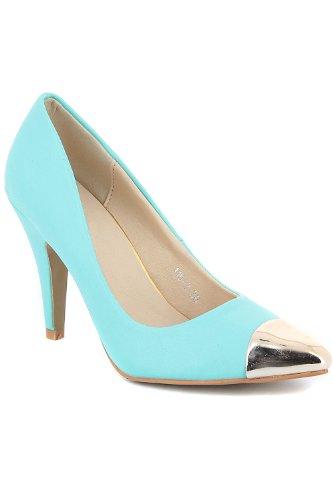 Go Tendance, Damen Pumps Blau - Turquoise