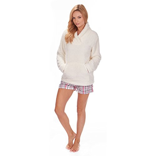Forever Dreaming - Women's Bed Jacket - Fleece Pyjama Snuggle Top - Shawl Collar - Sizes S-XL - 31LOsPlDjTL - Forever Dreaming – Women's Bed Jacket – Fleece Pyjama Snuggle Top – Shawl Collar – Sizes S-XL