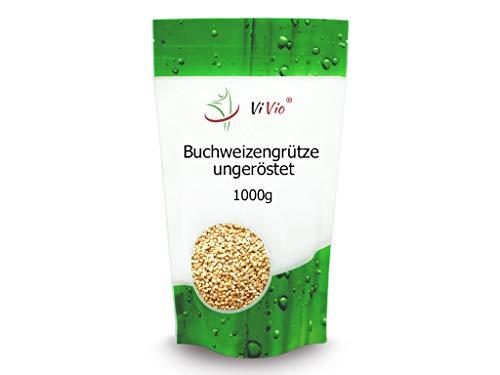 Buchweizengrütze ungeröstet 1000g - Vegan - Roh - Buchweizengrütze 1 kg - Nicht-Gmo - ViVio -
