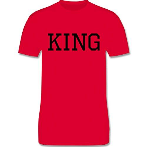 Partner-Look Pärchen Herren - King schwarz - Herren Premium T-Shirt Rot