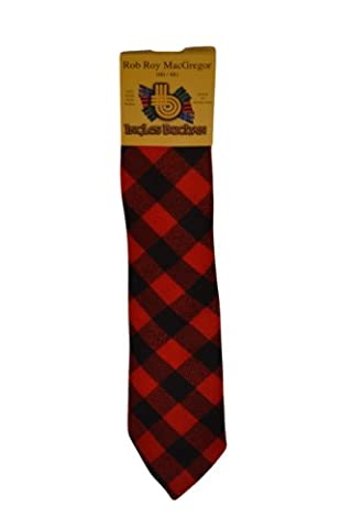 Men's Wool Tartan Tie - Rob Roy MacGregor Modern - Red