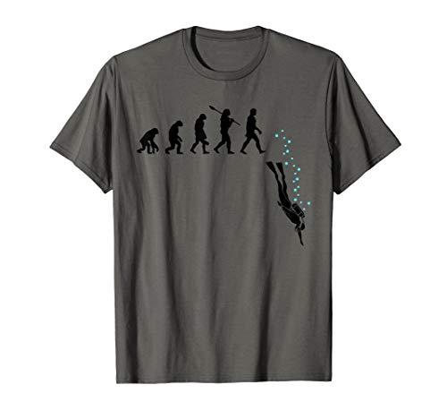 Tauchen Evolution lustiges Unterwasser Schnorcheln Geschenk T-Shirt