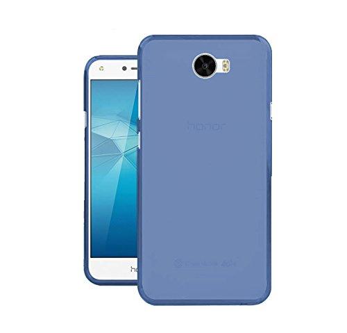 TBOC® Blau Gel TPU Hülle für Huawei Y6 II Compact - Y6II Compact - Y6 2 Compact (5.0 Zoll) Ultradünn Flexibel Silikonhülle (Nicht kompatibel mit Huawei Y6II 5.5 Zoll)
