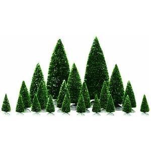 Lemax Pini assortiti 21 pz - Assorted pine trees Cod.34968