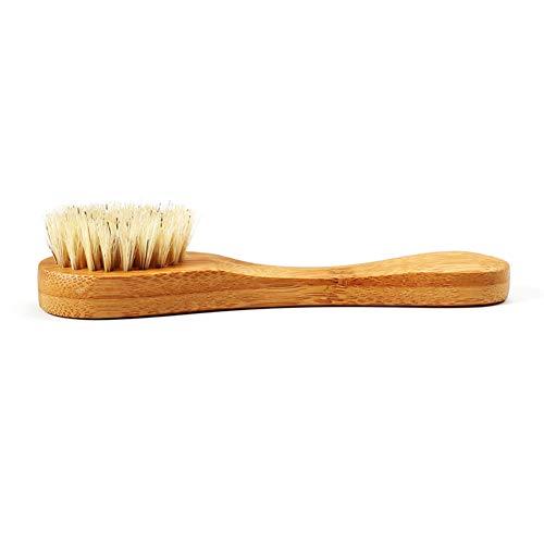 Dastrues Jabalí de cerdas Naturales Barba Cepillo de Madera Facial Facial Masajeador Brocha de Afeitar Herramienta de Limpieza
