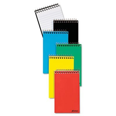 AMPAD Corporation Products - Memo Notebook, Top Spiral, Ruled Narrow 50 Shts, 3