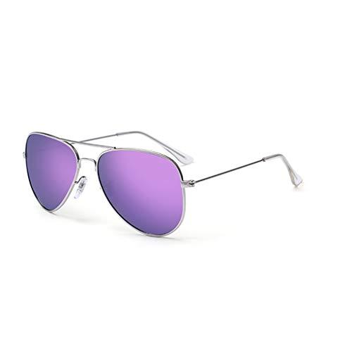 KISlink Sonnenbrille Männer Sonnenbrille Fahren Polarisierte Spiegel Flut Blenden Frauen Retro Persönlichkeit Pilot Sonnenbrille Männliche Sonnenbrille Brillen (Farbe: 4)