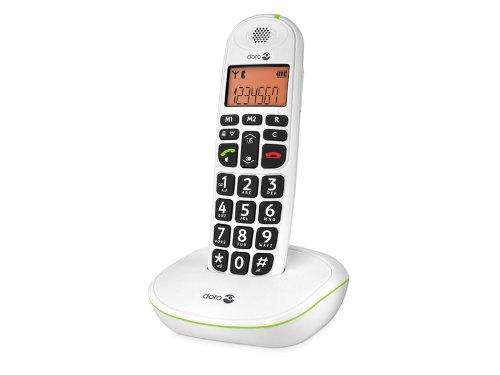 Doro Phone Easy 100W téléphone fixe sans-fil Blanc