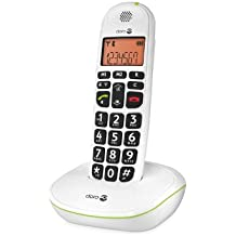 Doro Phone Easy 100W - Teléfono fijo inalámbrico con teclas extra grandes, color blanco (importado)