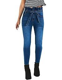 c5a90ece07a5c STRIR Pantalones Vaqueros Cintura Bajo para Mujer Invierno Primavera