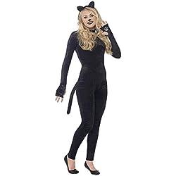 Smiffy's Smiffys-44320S Disfraz de Gata, con Cola, Diadema con Orejas de Gato y Collar el gato color negro - Edad 13 44320S
