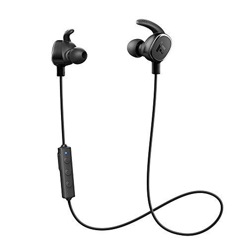 Cuffie Bluetooth Magnetiche Ultraleggere, TaoTronics Auricolari Sportivi Stereo ( Bluetoohth 4.1, aptX, CVC 6.0, Microfono e Tasti di Controllo Integrati) per iPhone, Galaxy, Tablet, MP3, ecc. - Nero.