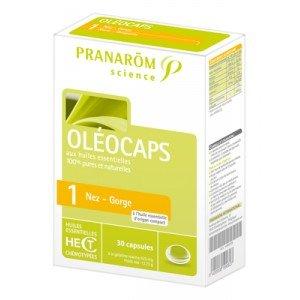 Pranarom - Oleocaps 1 Nez Gorge Oreille - 30 Caps
