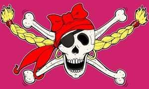 sin mit Bandana Fahne Flagge 1,50x0,90m (Prinzessin Skelett)