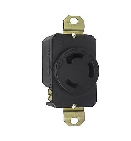 L1030-R PASS & SEYMOUR P&S Twist Lock 30 AMP RECEPTACLE 125/250V 3 POLE, 3 WIRE, NON GROUNDING NEMA L10-30R 3P 3W 30A by P&S PASS & (Nema Twist)