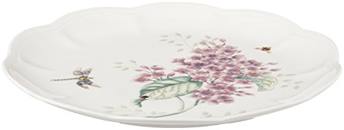Lenox Butterfly Meadow Orange Sulphur Accent Plate White Porcelain Side Plate