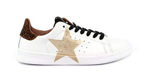 Nira Rubens Sneaker DAST130 Stella Bianco/Giaguarino+Off Black