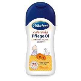 Feuchtigkeitsspendende Körper öl (Bübchen Calendula Pflege Öl für trockene und sensible Babyhaut Baby Pflege- und Massageöl, mit BIO-Calendula, 2 x 200 ml)
