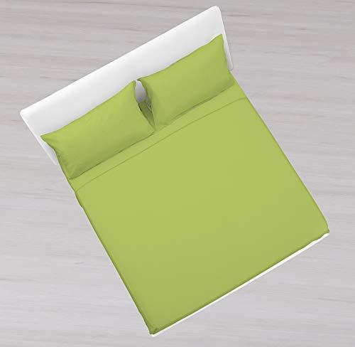 KASA SHOP OUTLET Set aus 100% Reiner Baumwolle 160 x 190 cm grün