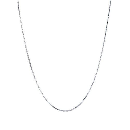 Legitta Damen Schmuck feine Halskette Venezianier Kette S925 Sterling Silber ohne Anhänger für Frauen Mädchen