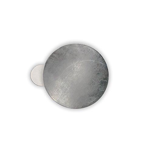 25 x Selbstklebende Metallplättchen (verzinkter Stahl, Ø 31 mm, Höhe 0,3 mm) (Chip-magnete)