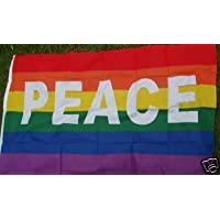 BANDERA ARCO IRIS PAZ 150x90cm - BANDERA PEACE – ARCOIRIS RAINBOW 90 x 150 cm - AZ FLAG